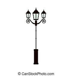 luz rua, lâmpada
