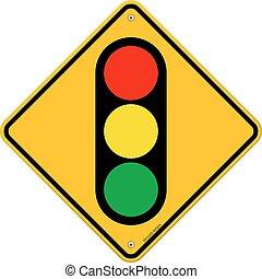 luz, símbolo, tráfego