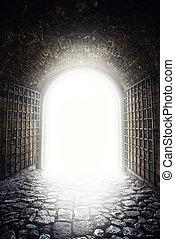 luz, salida