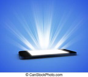 luz, smartphone