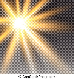 luz solar, transparente, vetorial