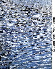 luz, superficie del agua
