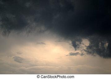 luz tenue, de, esperanza