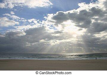 luz, thru, nubes