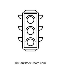 luz, tráfego, ícone