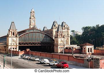 luz train station, sao paulo brazil