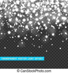 luz, vector, efecto, transparencia, sparklers.