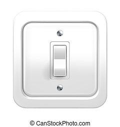 luz, vector, interruptor