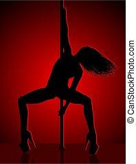luz vermelha, dançarino