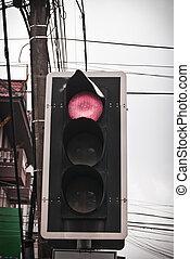 luz vermelha, estrada