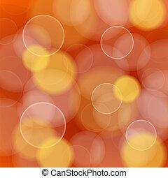 luz, vetorial, defocused, vermelho