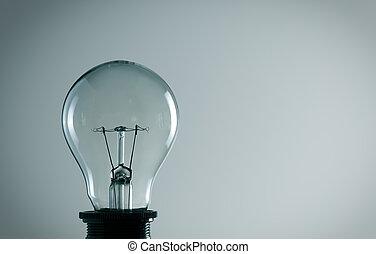 luz, viejo, concepto, bombilla,  idea