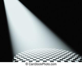 luz, volumetric, branca