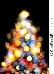 luzes, árvore, natal
