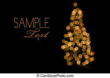 luzes, abstratos, árvore, natal