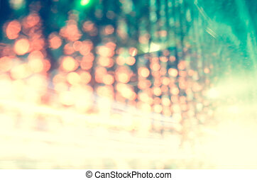 luzes, abstratos, bokeh, fundo, defocused