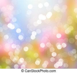 luzes, abstratos, fundo, resplendecer
