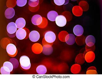 luzes, abstratos, natal, fundo