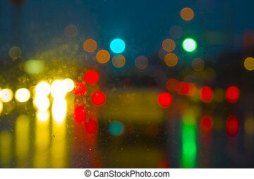 luzes, abstratos, rua