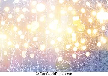 luzes, arte, Natal, fundo, feriados