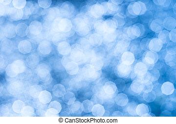 luzes azuis, abstratos, fundo, resplendecer