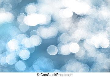 luzes azuis, experiência.