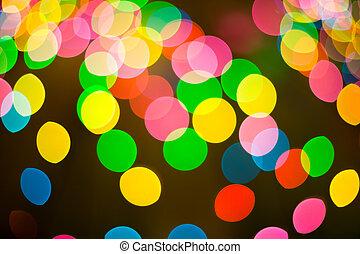 luzes, bokeh, coloridos