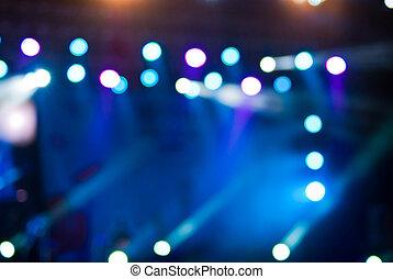 luzes, bokeh, concerto