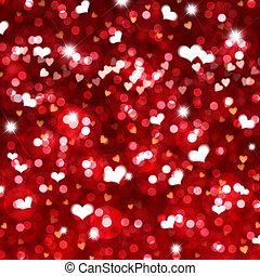 luzes, bokeh, dia, fundo, valentine