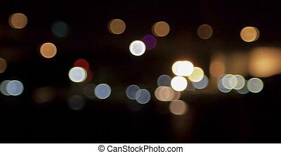 luzes, bokeh