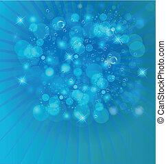 luzes, bolhas, luminoso, fundo