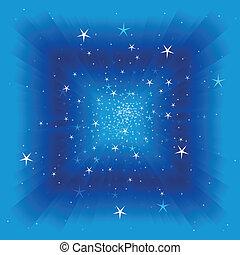 luzes, céu, fundo, vetorial