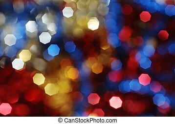 luzes, coloridos