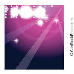 luzes, danceteria