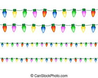 luzes decorativas, natal