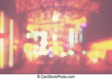 luzes, defocused, cidade