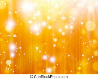 luzes, defocused, ouro
