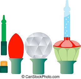 luzes, diferente, jogo, cinco, natal