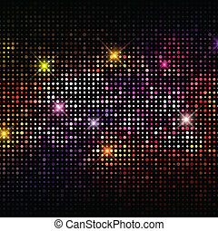 luzes, discoteca, fundo