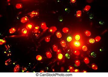 luzes, elétrico, natal