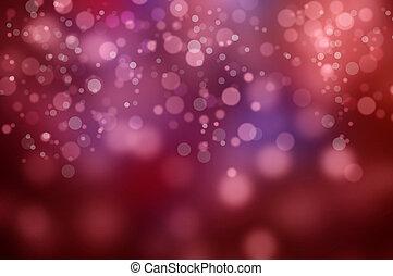 luzes, experiência blurry, vermelho