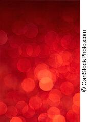 luzes, experiência vermelha