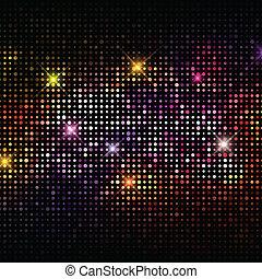 luzes, fundo, discoteca
