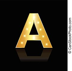 luzes, glowing, letra, logotipo