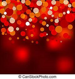 luzes, natal, vermelho