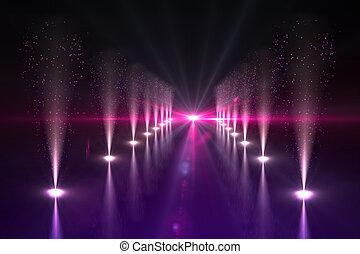 luzes, nightlife, fresco