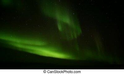 luzes norte, ligado, a, ártico, céu