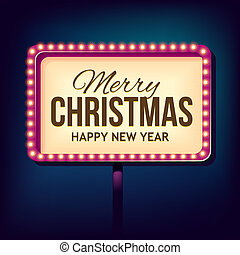 luzes, parabéns, retro, natal, noturna