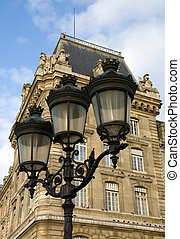 luzes, rua, parisian