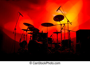 luzes, tambores